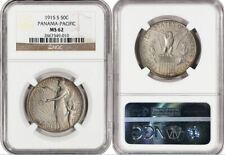 SILVER COMMEMORATIVES 1915 S PANAMA-PACIFIC 50C MS62 NGC