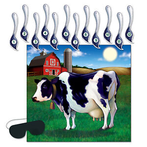 """Pin The Tail On The Cow Game 17¼"""" x 19"""""""