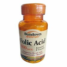Sundown Naturals Folic Acid 800mcg Tablets 100ct -FREE WORLDWIDE SHIPPING-
