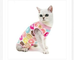 Pets Surgery Post Operative Clothes Cat Recovery Suit Cotton