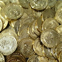 1000  Plastic Pirate Gold Play Toy Coins Birthday Party Favors Pinata Money Coin