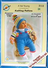NEW DOLLS KNITTING PATTERN by VAL YOUNG ANNABEL No.312  for a 17 / 19 inch doll