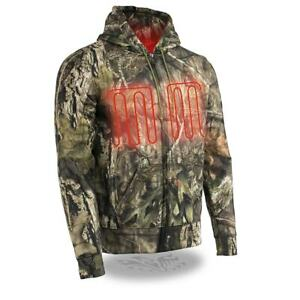 MILWAUKEE LEATHER MENS MOSSY OAK CAMO HOODIE FRONT BACK HEATING - SALH