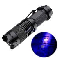Mini Portable UV Ultra Violet LED Flashlight Purple Blacklight Torch Lamp Light
