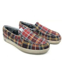 DC Villain TX Skateboard Plaid Shoes Loafers - Mens Size 11