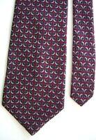 "Peterborough Row Men's Silk Geometric Neck Tie Red 3 7/8"" x 59"""