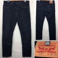 "LEVI'S STRAUSS & CO 510 Darkwash Blue Jeans W34"" L30"" Men's Zip Fly Pant"
