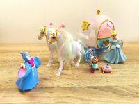 Mattel Disney Princess Cinderella Horse & Blue Carriage Fairy Godmother Mouse