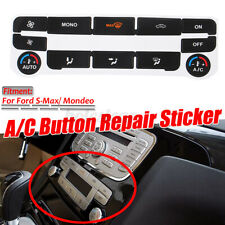 AC Climate Control Button Repair Sticker Decal Set for Ford S-Max/ Mondeo