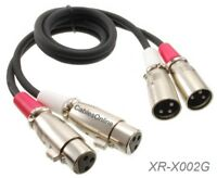 2ft CablesOnline 2-XLR Male to 2-XLR Female Audio DJ Cable, XR-X002G