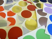 50mm Serrated Certificate Wafer Seals Labels Awards Legal Embossing Stickers