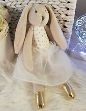 Olivia the Rabbit Soft Toy / Easter Bunny Soft Toy in Tutu Skirt (White)