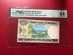 RWANDA BANKI NKURU 2019 500 FRANCS PMG 64 EPQ