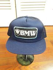 a61313b1221 VTG BMW Trucker Hat Blue Snapback Vintage Cars German Logo Rare Mesh Truck