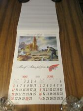 """Vintage 1968 Advertising Calendar """"Red Wing Shoes"""" Illustrations by Les Kouba"""