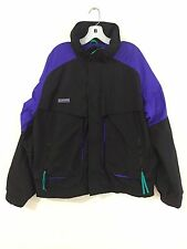 Columbia Ski Snow Board Shell Black w/Purple & Aqua Size L