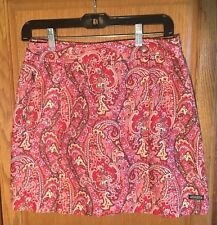 Athleta Pink Red Brown Paisley Wrap Front Skort Sz 4 Mint Condition
