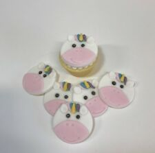 12  Edible Sugarpaste UNICORN Cupcake Toppers-  BIRTHDAY CHRISTENING