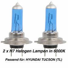 2x Halogen Lampen H7 55W 12V Abblendlicht Xenon Optik 6000K HYUNDAI TUCSON (TL)