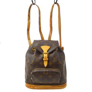 LOUIS VUITTON MINI MONTSOURIS BACKPACK HAND BAG MONOGRAM M51137 etp 37871