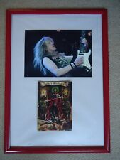 More details for iron maiden christmas card 2002 faux signed vintage+ iron maiden photo image gem