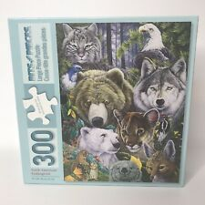 Bits and Pieces 300 PC LG FORMAT Jigsaw Puzzle North American Endangered Animals