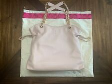 Tory Burch Slouchy Leather Blush-Pink Leather Tote, Brand New!