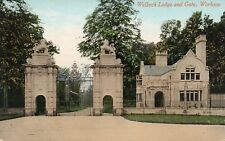 WELBECK LODGE AND GATE - Workshop - Notts - Unused Valentine's Postcard (HCAR)