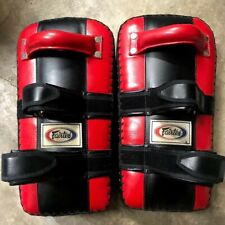 Fairtex Kick Pads, 16 inch, Red, Almost New/Lightly Used