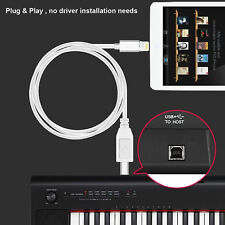 8pin to Type-B MIDI Keyboard OTG Converter USB 2.0 Cable for iPhone 7 8 X iPad