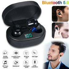 1 Pair Mini Stereo Touch Wireless Bluetooth 5.0 TWS Headphone Headset W/ Earbuds