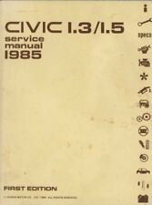 1985 Honda Civic 1.3/1.5 1.3 1.5 Service Shop Repair Manual OEM FACTORY BOOK
