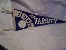1956 PLAY BALL! VARSITY BASEBALL FELT PENNANT,Class Of,high school,college,team