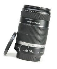 Canon EF-S 55-250mm F4-5.6 Image Stabilizer AF Zoom Lens + Front /Rear Lens Caps