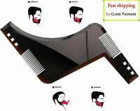 2PCS Beard Styling & Shaping Bro Comb Shaper Stencil Shaving Template