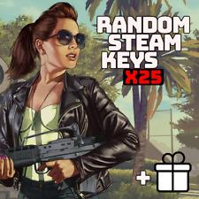 x25 Random Steam Keys Video Game CD [Fast] + Bonus [Global] Key PC Games