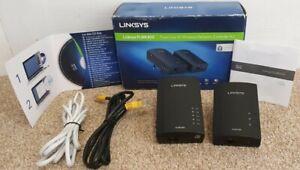 Cisco Linksys PLWK400 Set Powerline Homeplug Network Expansion Kit PAT TESTED
