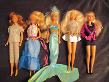 Barbie Dolls lot of 5/ 4 are missing shoes Good Condition