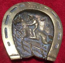 Hunter Jumper Brass Horse Shoe  Ashtray or Candy Dish