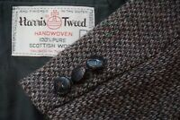Harris Tweed Gray Black Donegal Fleck Tweed Sport Coat Jacket Sz 40R