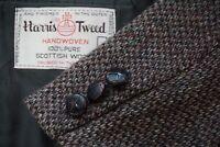 Harris Tweed Gray Black Donegal Fleck Tweed Sport Coat Jacket Sz 40R
