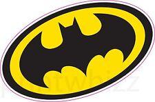 BATMAN LOGO CREST Adesivo Vinile Muro Auto Laptop supereroi fumetti