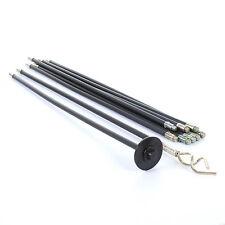 12 Piece Drain Rod Set Unblock Drains Plunger Unblocker 10 1M Rods Worm Screw 9M