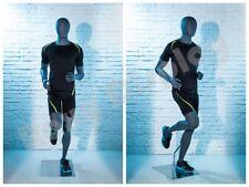 Male Fiberglass Egghead Athletic style Mannequin Dress Form Display Mz-Hef63Eg