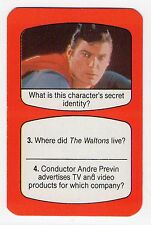 1980s UK TV Times Card Superman Actor Christopher Reeve
