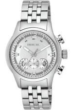 Mens Watch BREIL GLOBE TW0773 Chrono Steel Bracelet Silver Sub 100 mt DD