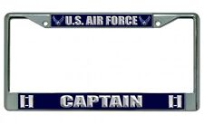 U.S. Air Force Captain Chrome Photo License Plate Frame