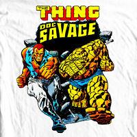 Doc Savage T-shirt Silver Age retro vintage 70's comic books cotton graphic tee