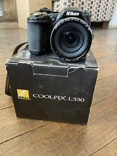 Nikon COOLPIX L330 20.2MP Digital Camera Black Barely Used Free Shipping in box