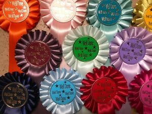 ROSETTES 1 tier WELL DONE x 10, 20, 30,50 or 100 READY TO GO!